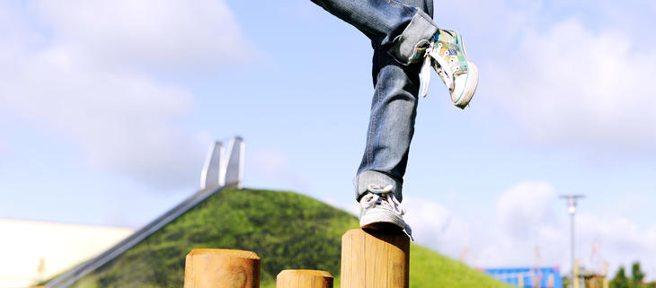 Balanse på tømmerstokk