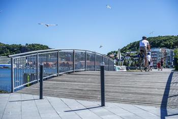 på sykkel i sandnes sentrum